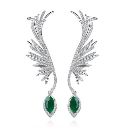 Cercei Ear Cuff Green Angel [0]