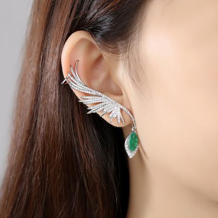 Cercei Ear Cuff Green Angel [1]