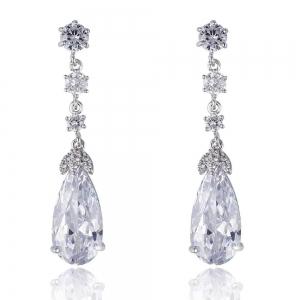Cercei Elysee Borealy Long Crystal Teardrop0