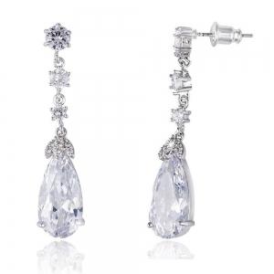 Cercei Elysee Borealy Long Crystal Teardrop1