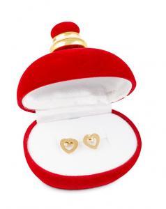 Cercei Inima Gold Love1