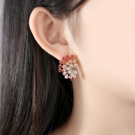 Cercei Luxury Evantai Red1