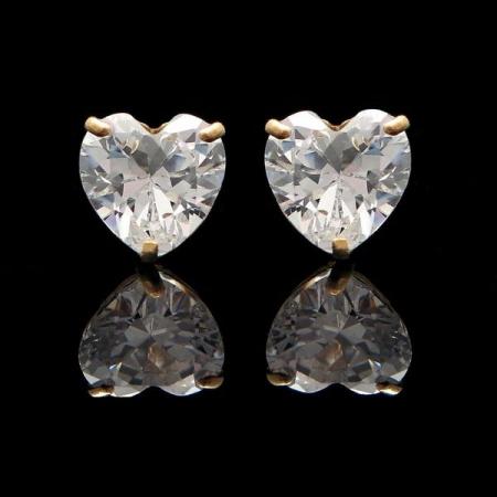 Cercei Sapphire Heart Gold1