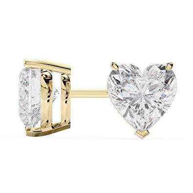 Cercei Sapphire Heart Gold0