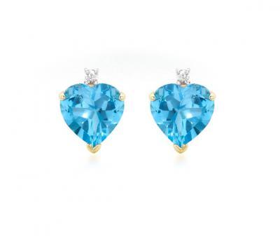 Cercei Topaz Natural & Diamante Naturale din Aur 9 carate1