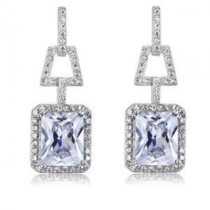 Cercei Borealy Argint 925 Simulated Diamonds 4 Carat0
