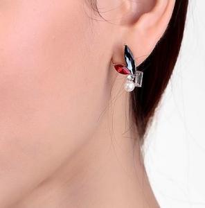 Cercei Borealy Crystal Pearl Ear Cuff Asimetrici Colours6