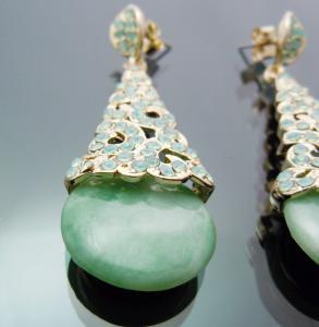 Cercei Borealy Aventurine & Opal Chandelier Green1