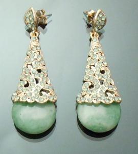 Cercei Borealy Aventurine & Opal Chandelier Green2