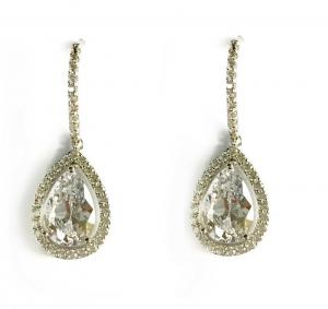 Cercei Borealy Silver Crystal Teardrop0