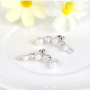 Cercei Borealy Studs Pearl Gold Plated1