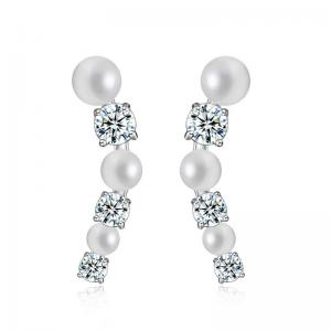 Cercei Borealy Studs Pearl Gold Plated0