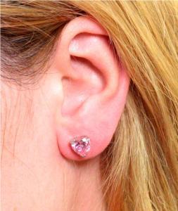 Cercei Studs Sapphire Heart Pink1