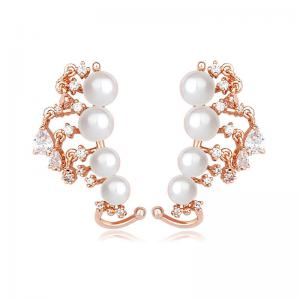Cercei Borealy Vintage Love Pearl Gold Plated0