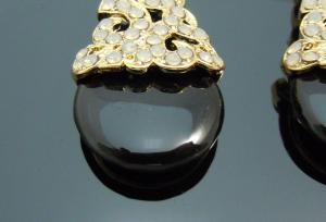 Cercei Chandelier Black Onix & White Opal2