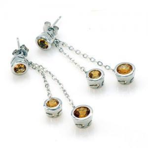 Citrine Light Cercei 4 carate - Pietre Preţioase Naturale Argint 9253
