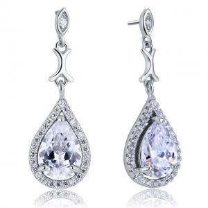 Cercei Borealy Argint 925 Simulated Diamond Delicate Bride2