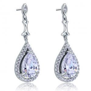 Cercei Borealy Argint 925 Simulated Diamond Delicate Bride1