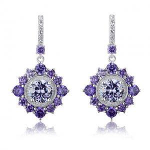 Cercei Borealy Argint 925 Purple Sapphire Dentelle D'Orient0