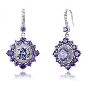 Cercei Borealy Argint 925 Purple Sapphire Dentelle D'Orient1
