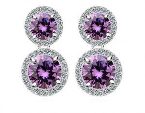 Cercei Borealy Ametist Double Purple0