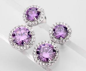 Cercei Borealy Ametist Double Purple2