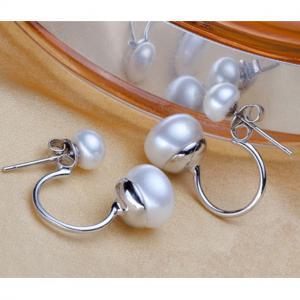 Cercei Double Perle Naturale Silver 9256