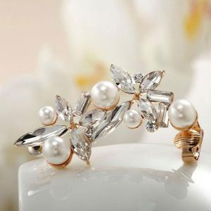 Cercei Ear Cuff Asimetrici Crystal Pearl by Borealy2