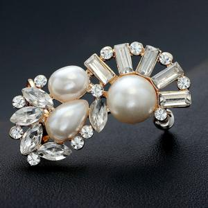 Cercei Ear Cuff Crystal Pearl Cluster by Borealy1