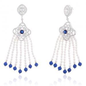Cercei Borealy Perle Fabulous Blue Dantelle