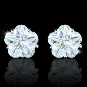 Cercei Borealy Sapphire Studs Flower Cut2