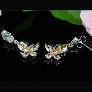 Cercei Borealy Amber Long Fluturaşi4