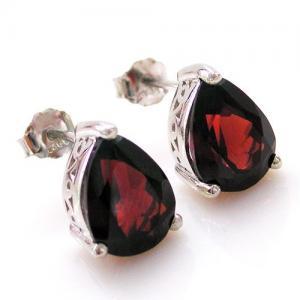 Cercei Granat Natural Red 3 Carate - 925 Argint2