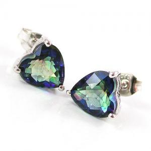 Cercei si Colier Love Mistic Topaz 14 carate Argint 9253