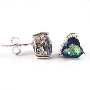Cercei si Colier Love Mistic Topaz 14 carate Argint 9256