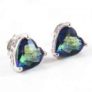 Cercei si Colier Love Mistic Topaz 14 carate Argint 9257