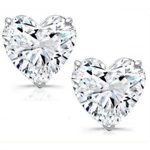 Cercei Borealy Argint 925 Sapphire Heart