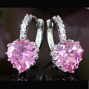 Cercei Borealy Sapphire Heart Pink2