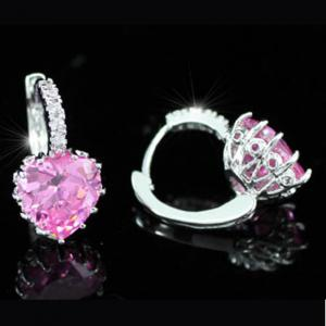 Cercei Borealy Sapphire Heart Pink3