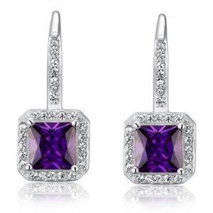 Cercei Borealy Argint 925 Simulated Sapphire Lady Purple0