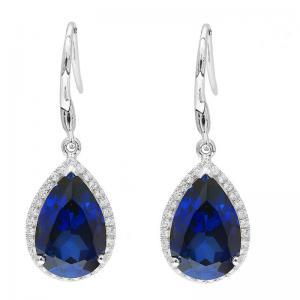 Cercei Luxury Safir 8 carate Argint Borealy0