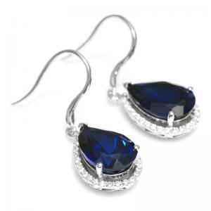 Cercei Luxury Safir 8 carate Argint Borealy4
