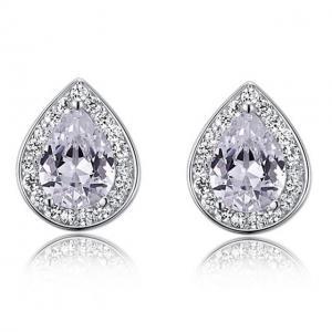 Cercei Borealy Argint 925 Simulated Diamonds Donna White