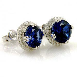 Cercei Borealy Argint 925 Blue Safir One Ocean 5 carate4