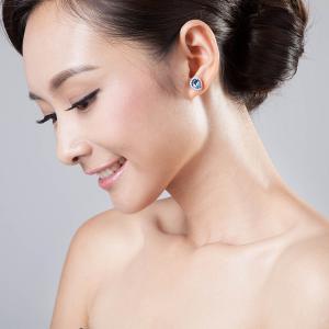 Cercei Pear Lux Topaz Natural 3,50 carate Argint1