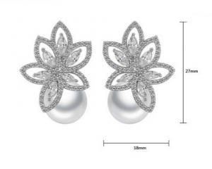 Cercei South Sea Flower Simulated Diamond [2]
