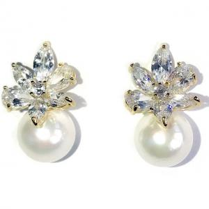 Cercei Borealy Crystal Flower Ivory Pearl0