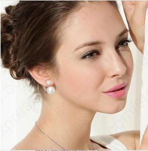 Cercei Double Perle Naturale Silver 9251