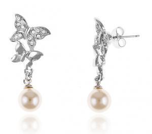 Cercei Perle Fluturi Borealy1