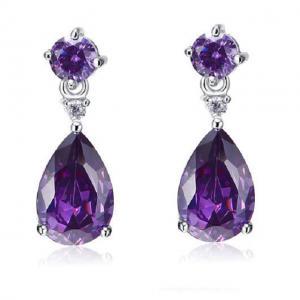 Cercei Borealy Argint 925 Mini Diamonds 3 carate Purple Lady